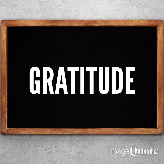 Chalk Board Image of the Word Gratitude