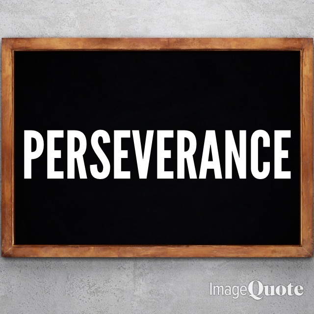 Chalk Board Image of The Word Perseverance