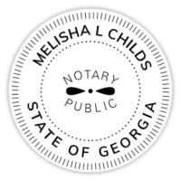 MLChilds Notary Seal