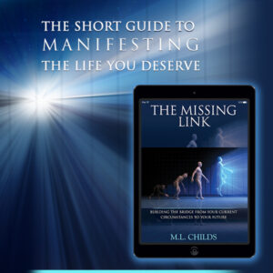 Promotional ad for The Missing Link by M. L. Childs