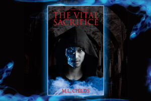 Elaborate cover design image for The Vital Sacrifice by M. L. Childs