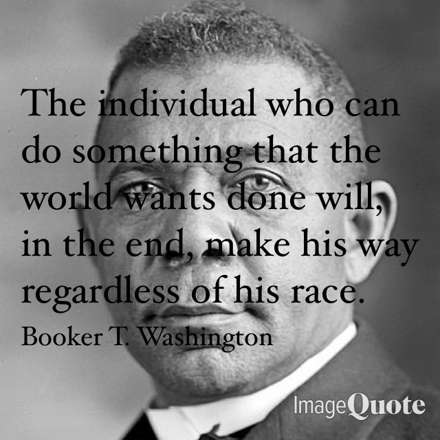 Image and Quote by Booker T. Washington