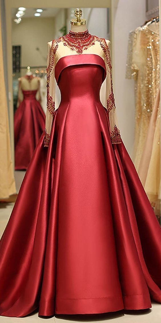 Image of a red ball gown