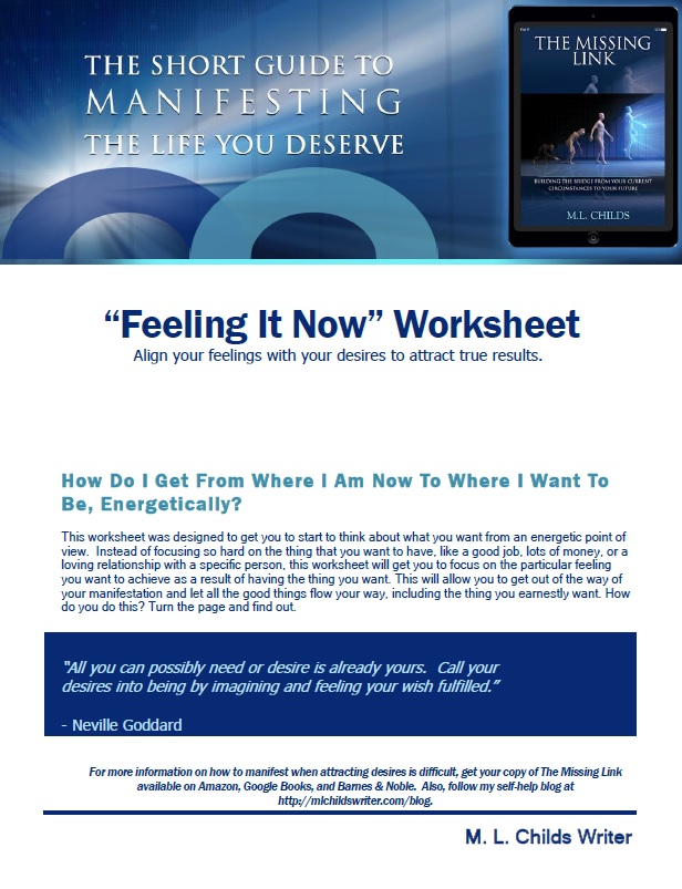 Feeling It Now Worksheet