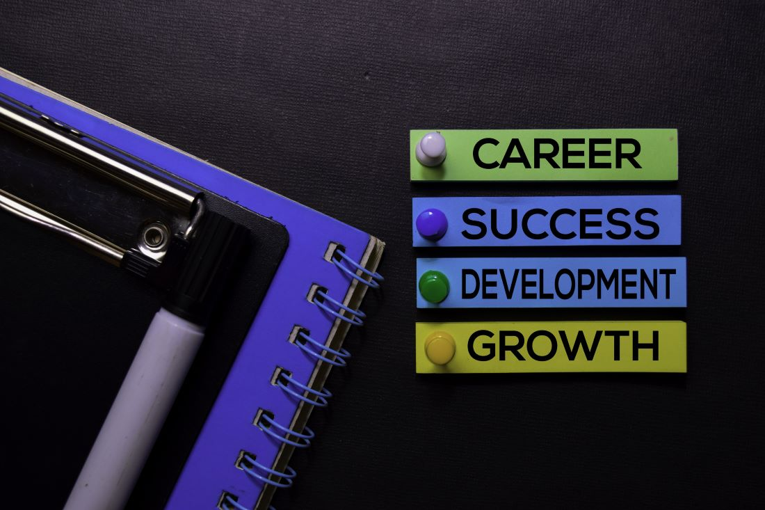 Image with the words career success and development to accommodate the discussion about Feng Shui career corner.