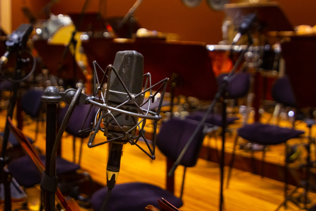 Image of the inside of a recording studio.