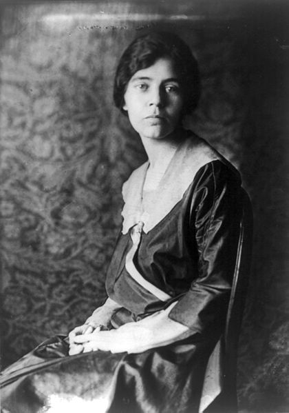 Image of Alice Paul, a leader in the women's suffrage movement.