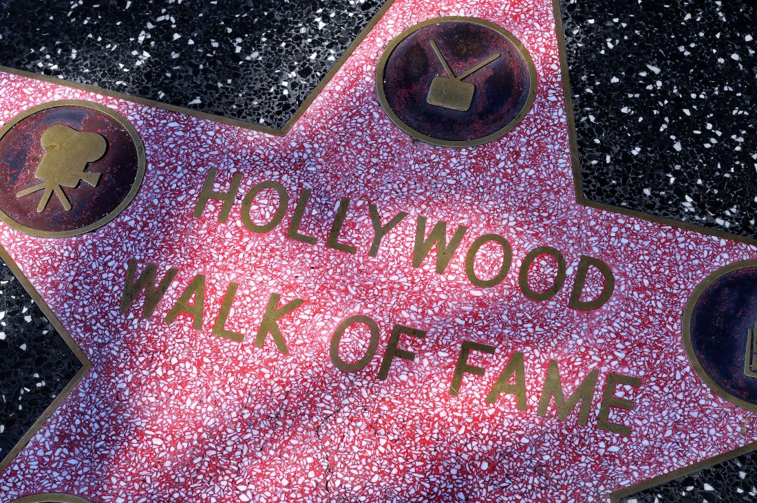 Image of a Hollywood star representing fame area of feng shui