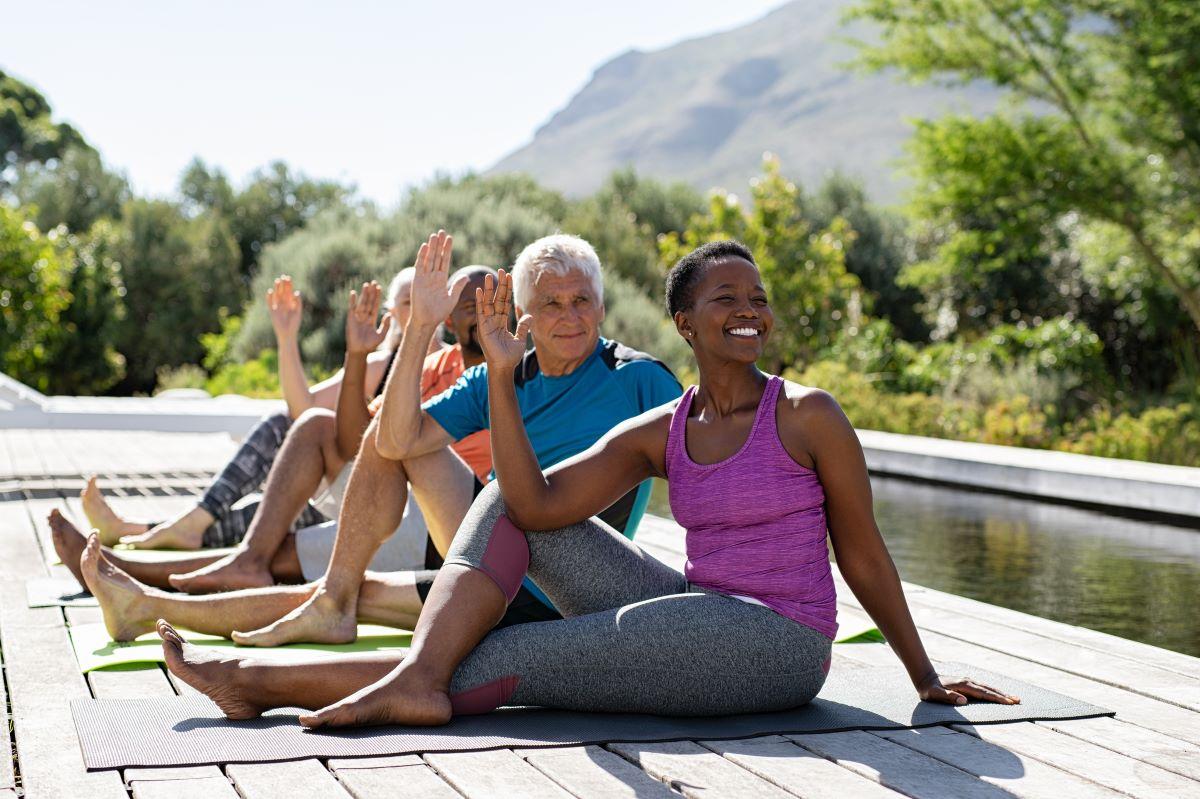 Image of seniors exercising