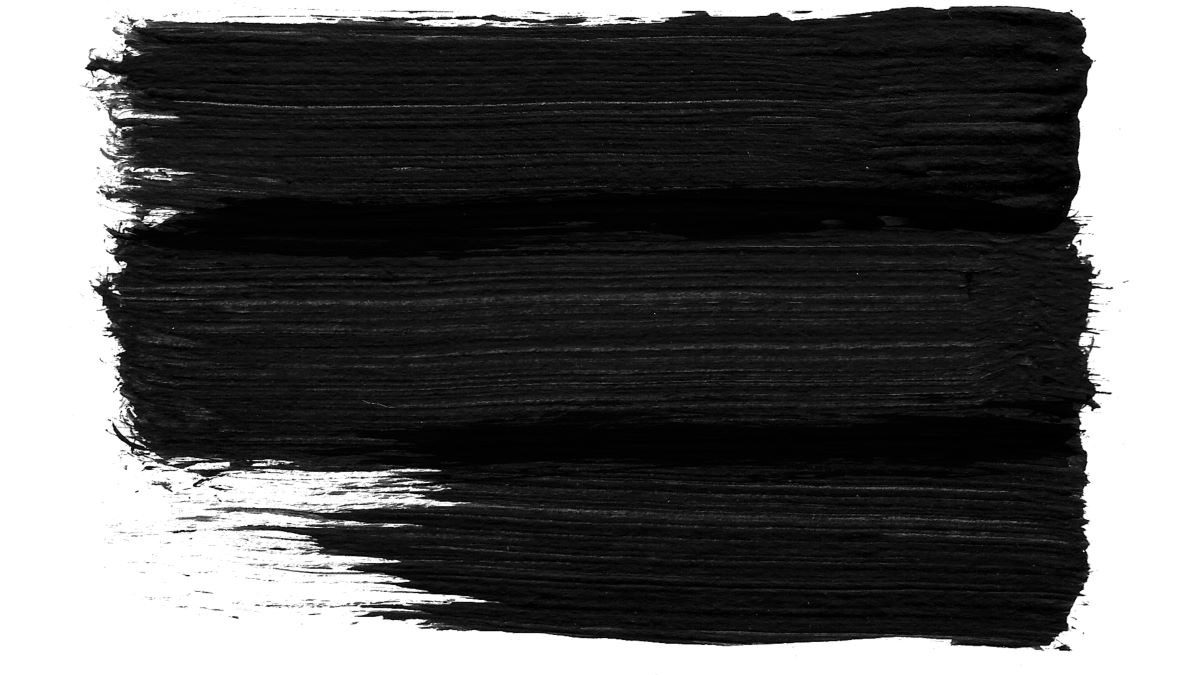 Black paint on the wall.