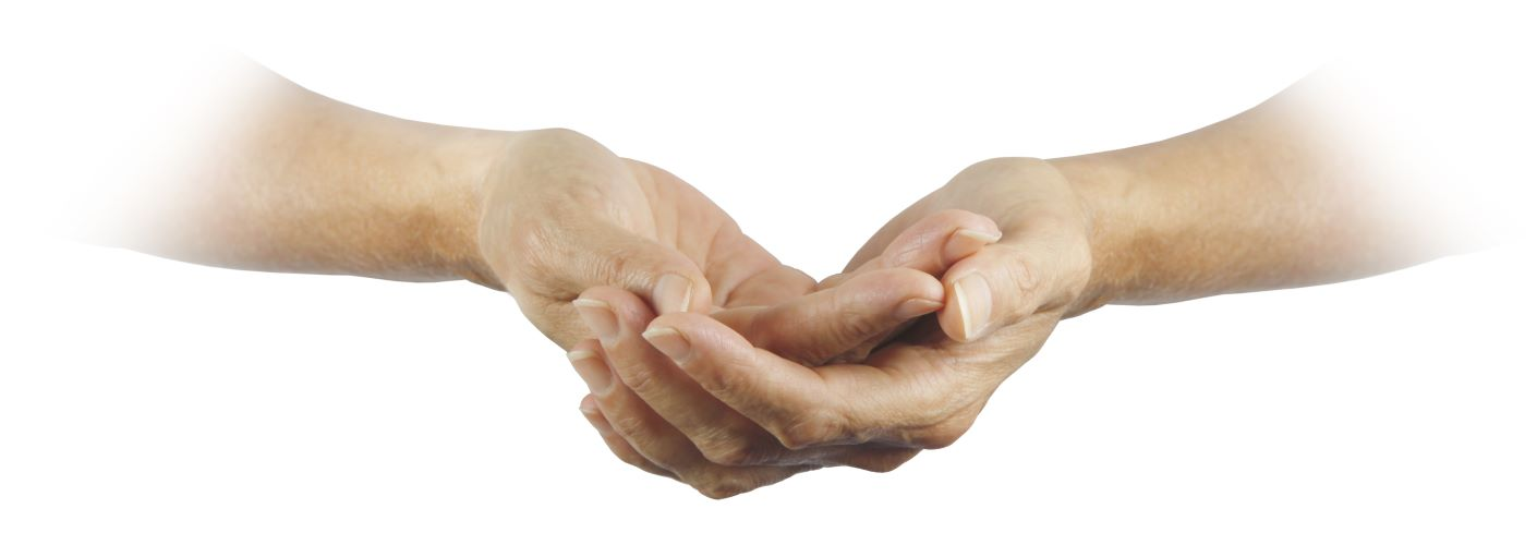 Hands ready to receive a blessing
