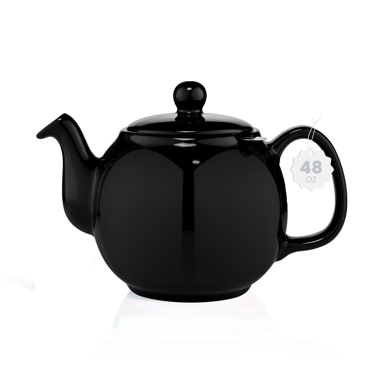 black porcelain tea kettle