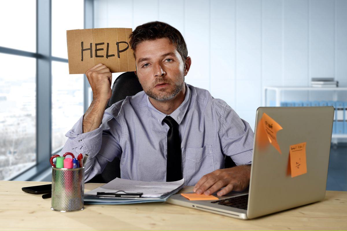 a man dealing with stress
